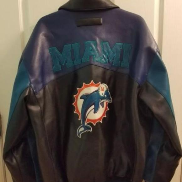 551c4a09 Vintage NFL Faux Leather Miami Dolphins Sz Large